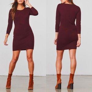 NEW Jack BB Dakota Marono Knit Sweater Dress Size Medium Wool Blend Wine Maroon